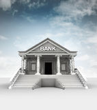 Bank building  in classic ionic style with sky Royalty Free Stock Photos