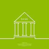 Bank building with columns Royalty Free Stock Image