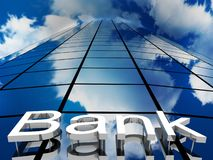 Bank building, 3D images Royalty Free Stock Photo