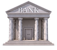 Bank building. 3D rendering of a bank building Stock Image