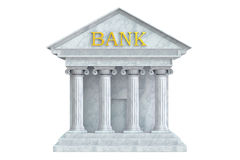 Bank building, 3D rendering Royalty Free Stock Photos