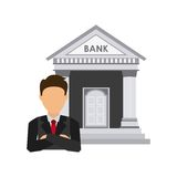 Bank building economy icons. Vector illustration design Stock Photos