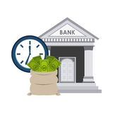 Bank building economy icons. Vector illustration design Royalty Free Stock Images