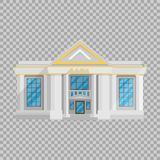 Bank building  Flat in style on a transparent background vector illustration. The institution which holds money. And issued loans, currency exchange, a symbol Royalty Free Stock Photography