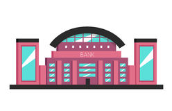 Bank building. Flat vector illustration. Constructivism style Stock Image