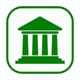 Bank building icon, Court building icon. Icon Royalty Free Stock Photography