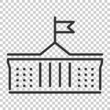 Bank building icon in flat style. Government architecture vector. Illustration on isolated background. Museum exterior business concept vector illustration