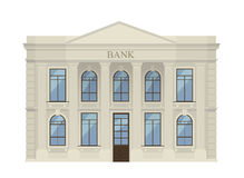 Bank building icon isolated Royalty Free Stock Photography