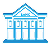 Bank Building Icon Stock Photography