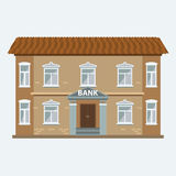 Bank building icon  on the white background. Royalty Free Stock Photo