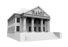 Bank Building Illustration. Isolated on white background. 3D render Stock Photo