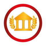Bank building isolated icon Stock Image