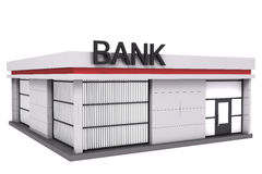 The bank building. stock illustration
