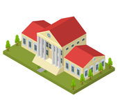 Bank Building Isometric View. Vector Stock Images