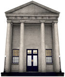 Bank Building, Money, Investing, Isolated Royalty Free Stock Photos