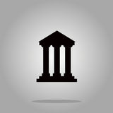 Bank building sign icons, vector illustration. Flat design style Royalty Free Stock Photo