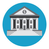 Bank building. In the style of a classical Greek or Roman temple Stock Photography