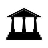 Bank building symbol Stock Image