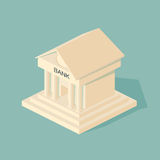 Bank building.  Symbols of Business and Finance. Stock Photo
