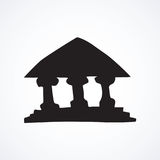 Bank building. Vector icon Royalty Free Stock Photos