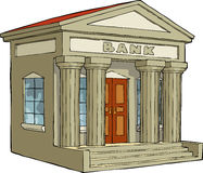 Bank building. On a white background vector Stock Photography