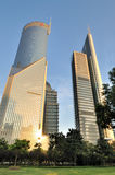 Bank buildings in Shanghai commercial center Royalty Free Stock Photo