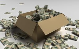 Bank bundles of dollars Stock Photos