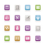 Bank, business and finance icons. Icon set Stock Image