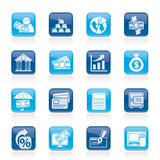 Bank, business and finance icons Royalty Free Stock Photo