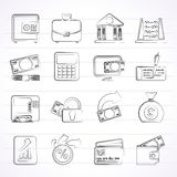 Bank, business and finance icons Stock Photography