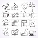 Bank, business and finance icons. Vector icon set Stock Photo