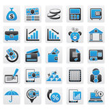 Bank, business and finance icons. Vector icon set Royalty Free Stock Photography