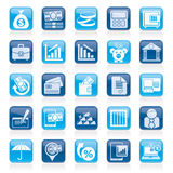 Bank, business and finance icons. Vector icon set Stock Image
