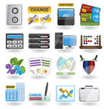 Bank, business, finance and office icons. Vector icon set Stock Photography
