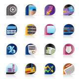 Bank, business, finance and office icons. Vector icon set Stock Photo