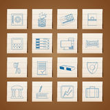 Bank, business, finance and office icons. Icon set Royalty Free Illustration