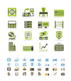 Bank, business, finance and office icons. Icon set Vector Illustration