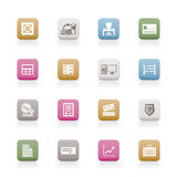 Bank, business, finance and office icons. Icon set Stock Photo