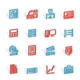 Bank, business, finance and office icons. Icon set Stock Images