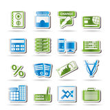 Bank, business, finance and office icons. Icon set Royalty Free Stock Photography