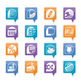 Bank, business, finance and office icons. Vector icon set Stock Image