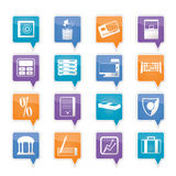 Bank, business, finance and office icons. Vector icon set Royalty Free Stock Photography