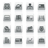 Bank, business, finance and office icons. Vector icon set Royalty Free Stock Photo