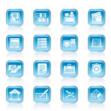 Bank, business, finance and office icons. Vector icon set Stock Images