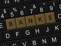 Bank button Royalty Free Stock Photos