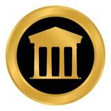 Bank button on white. Royalty Free Stock Images