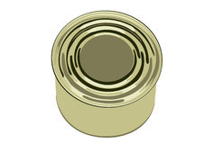 Bank of canned food. Tin bank with the tinned meal-meat, a fish or snack Royalty Free Stock Photos
