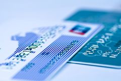 Bank card. S close up,shallow depth of field Royalty Free Stock Photography