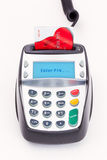 Bank Card in Chip and Pin Machine Stock Images