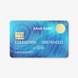 Bank card, credit card design template. Abstract blue vector background Royalty Free Stock Images